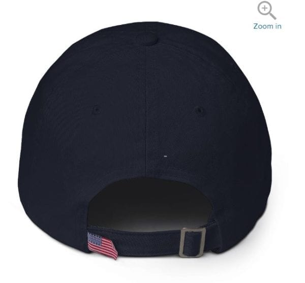 Navy Trump Hat Back View