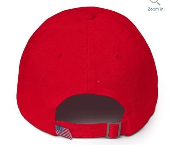 Red Trump Hat Back View