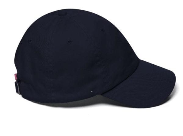 Trump Navy Hat Side View