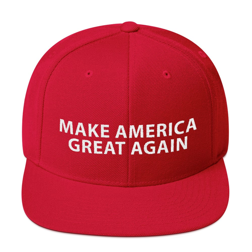 a28ad994fae Trump Classic - Make America Great Again - Red Snapback Hat With ...