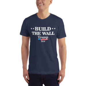 Build The Wall Trump 2020 - T-shirt ( Navy)