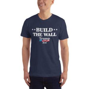 Build The Wall Trump 2020 - T-shirt ( Navy)