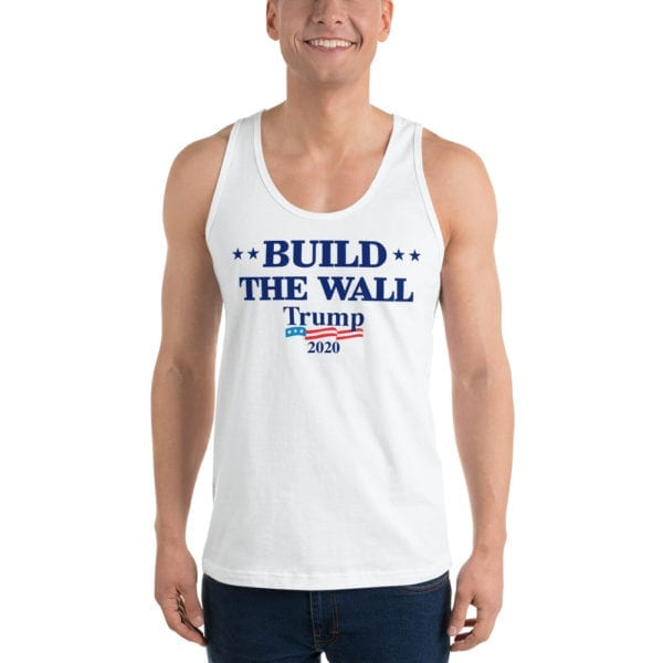 Build The Wall Trump 2020 - Tank Top ( White)