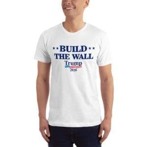 Build The Wall Trump 2020 - T-shirt (White)
