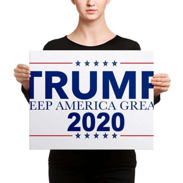 Trump Keep America Great 2020 - Canvas
