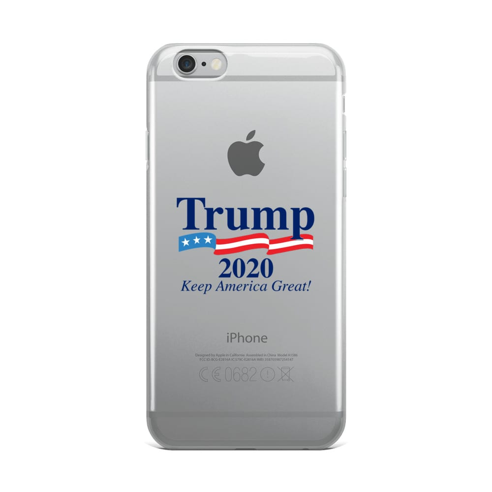 buy popular 26fa9 c4273 Trump 2020 Keep America Great With Flag - iPhone Case