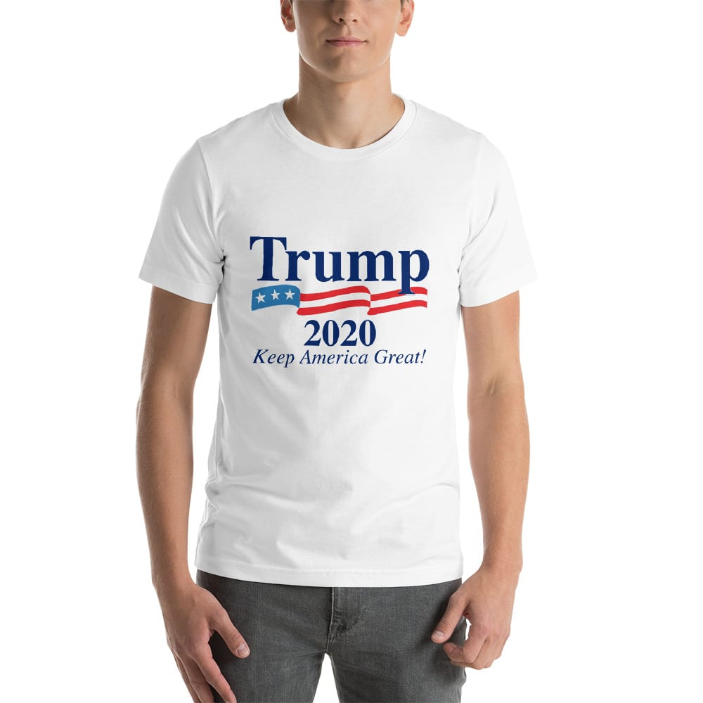 Donald Trump Keep America Great 2020 T Shirt With Flag White