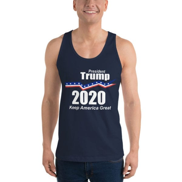 Trump 2020 Tank Top Navy