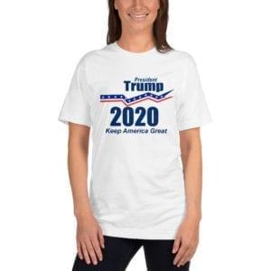 President Trump 2020 Keep America Great - T-shirt (White)