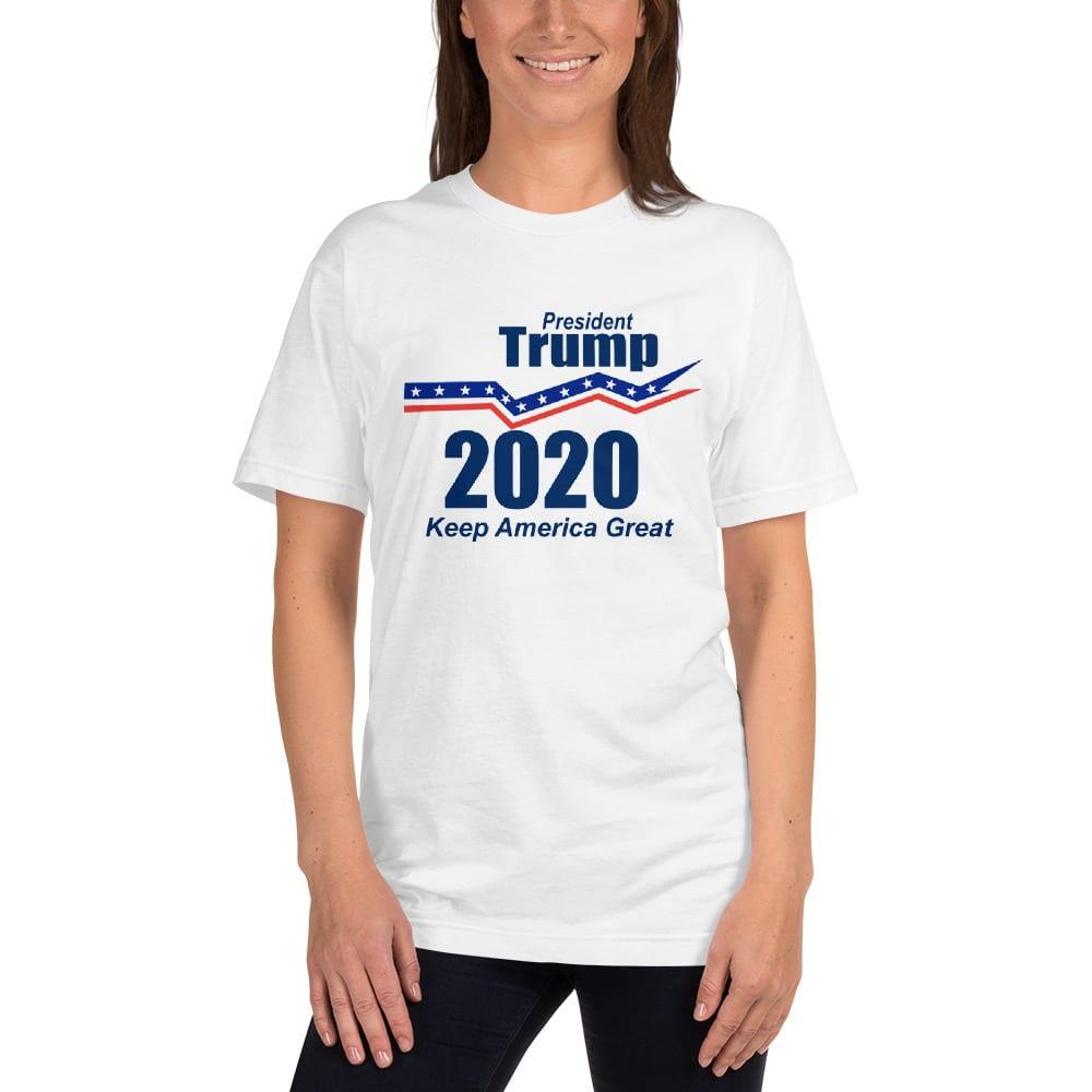 cb93d900d President Trump 2020 Keep America Great Women's T-shirt (White ...
