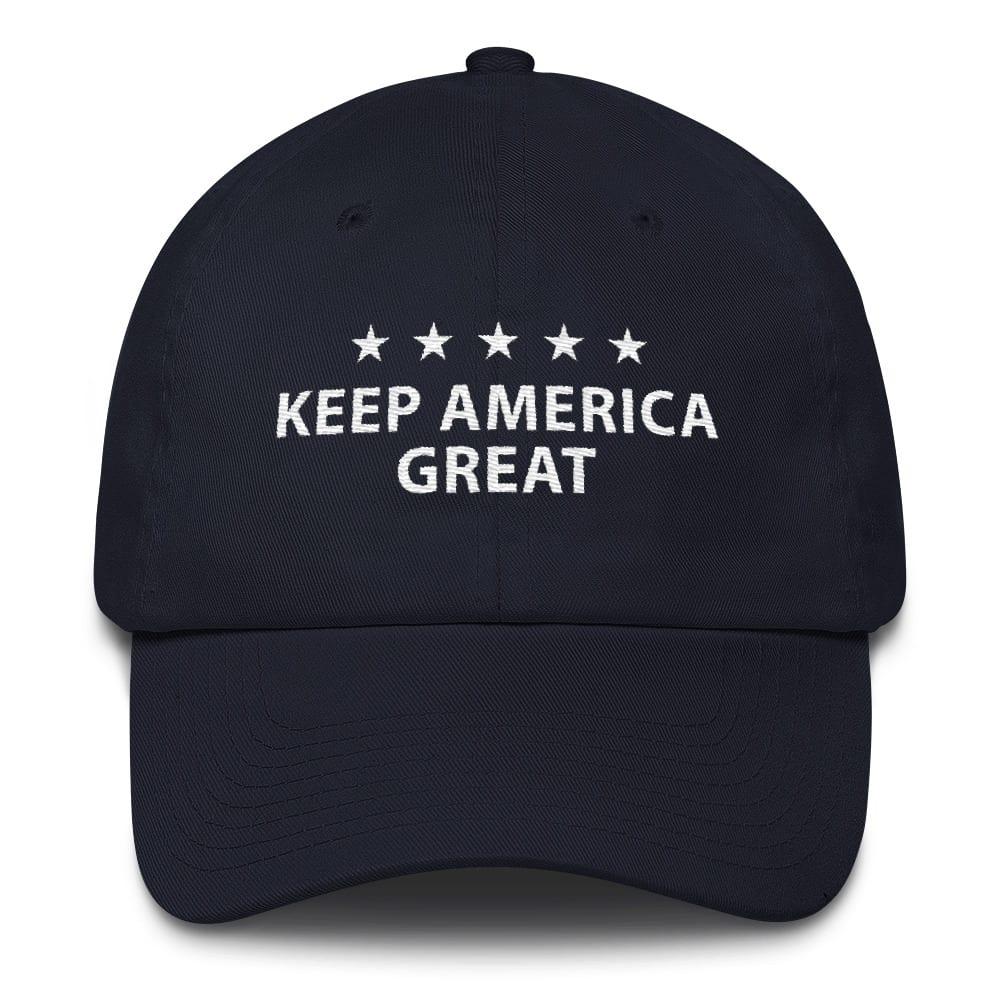 5eebf782b07 Executive Trump 2020 Keep America Great - Navy Trump Cotton Cap ...
