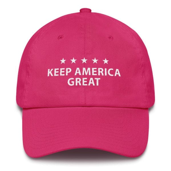 Trump 2020 Pink Women's Cotton Cap - Made In USA