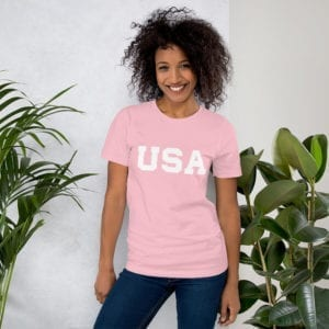 Women's Trump 2020 Shirt In Pink - Trump USA Women's T-Shirt