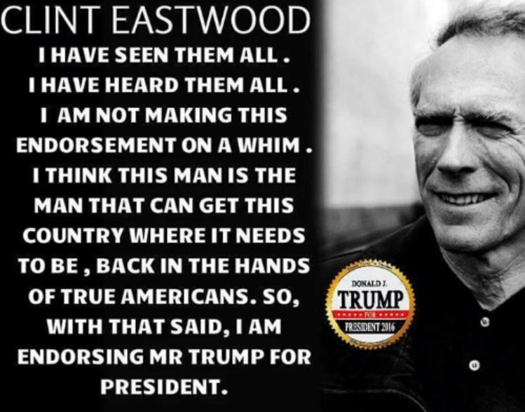 Clint Eastwood Supports Trump