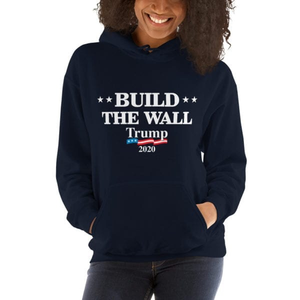Build The Wall Womens Hoodie