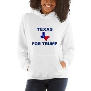 Texas For Trump Womens Hoodie