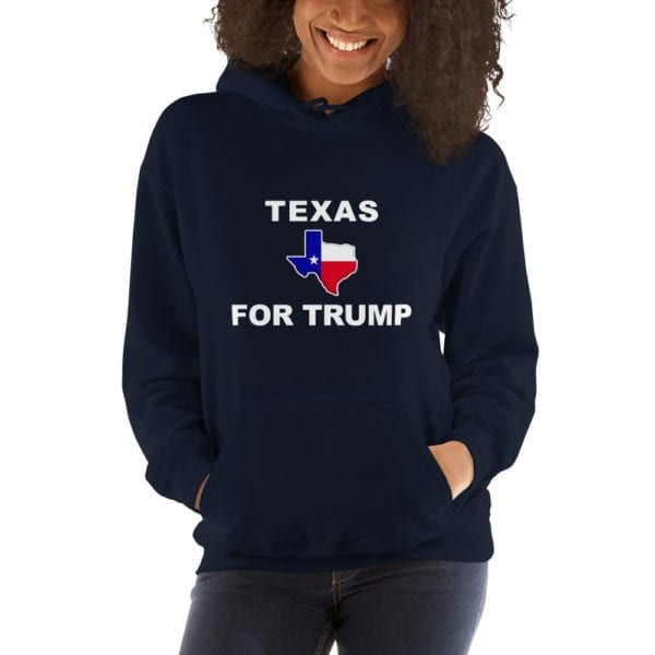 Texas For Trump Womens Hoodie