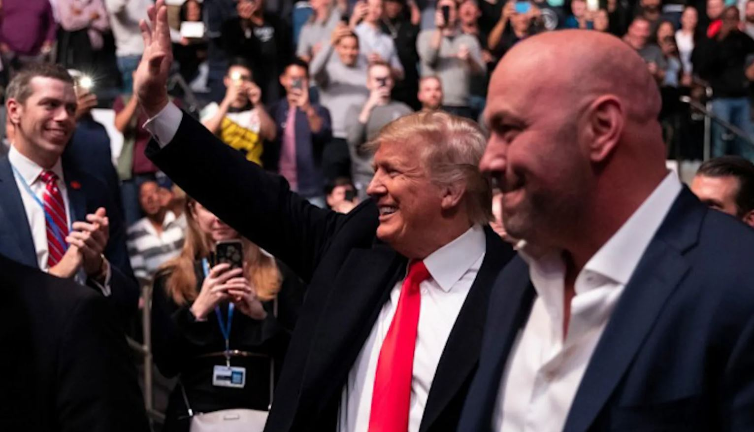 Trump UFC 244